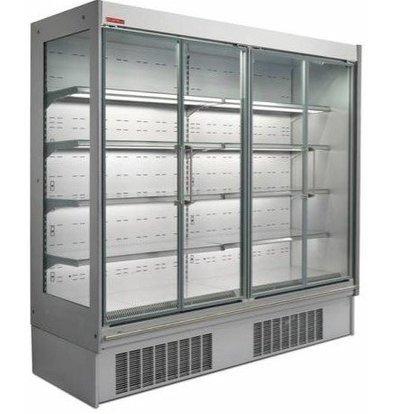 Oscartielle Meuble Réfrigéré Inox | R404a | Model Haut 220cm | Portes Pivotantes | Disponible en 4 Tailles