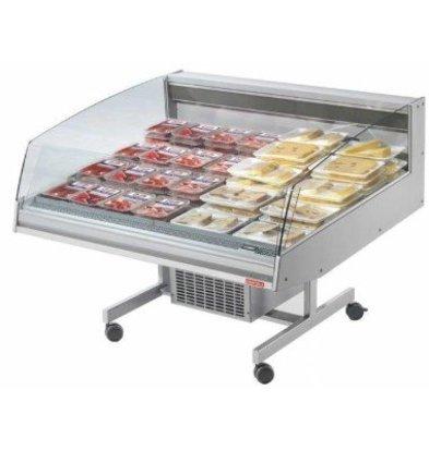 Oscartielle Vitrine Réfrigéré Supermarché | -1°/+7°C | Libre Service | BANCARELLA SELF 125 | 1288x1220x(H)1030mm