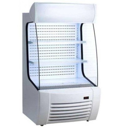 Saro Meuble Réfrigérée Blanche | 360 Litres | Rideau de Nuit | 870x950x1520(h)mm