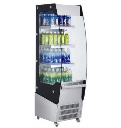 Saro Meuble Réfrigérée Acier | 220 Litres | 3 Etages Réglables | Rideau de Nuit | 494x600x1740(h)mm