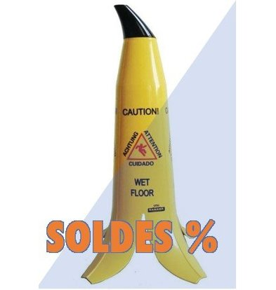 CHRselect Cône Sol Glissant Multilingue | Banana | 60(h)cm | PROMOTION XXL!