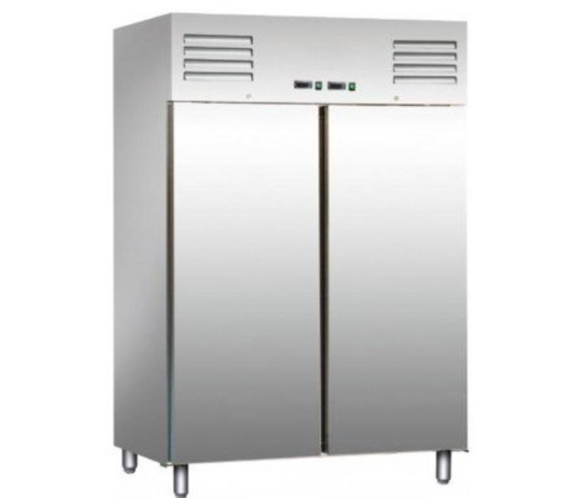 Saro Combi Frigo/Congélateur INOX | 2x 537 Litres | 1340x650x1380(h)mm