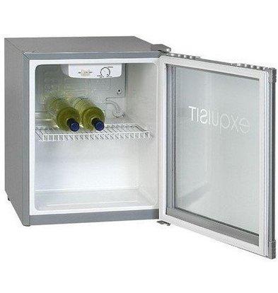 Exquisit Frigo de Chambre MINI Exquisit | Porte Vitrée | 50 Litres | 470x440x(h)500mm