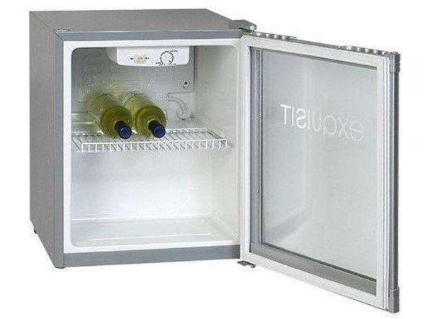 Exquisit Frigo de Chambre MINI Exquisit   Porte Vitrée   50 Litres   470x440x(h)500mm