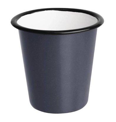 Olympia Pot à Sauce |  en Acier Emaillé | Gris et Noir  | Olympia 114ml |  60(H) x 65(Ø)mm | Lot de 6