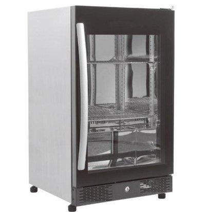 Combisteel Arrière-Bar Noir | Simple Porte Vitrée | 98 Litres | 500x500x(h)840mm