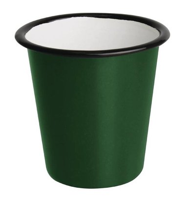 CHRselect Pot à Sauce   en Acier Emaillé    Vert et Noir   Olympia 114ml   60(H) x 65(Ø)mm   Lot de 6