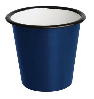 Olympia Pot à Sauce | en Acier Emaillé | Bleu et Noir | Olympia 114ml | 60(H) x 65(Ø)mm | Lot de 6