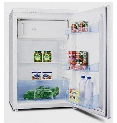 Exquisit Réfrigérateur Exquisit Blanc A+ | 104 Litres | avec Surgélateur 14L | 550x570x850(h)mm