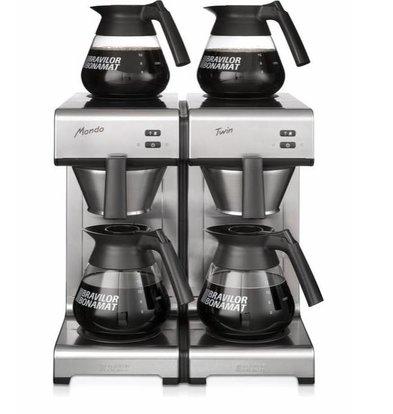 Bravilor Bonamat Cafetière Mondo | Double Duo | Filtre rapide 404x406x (H) 446 mm