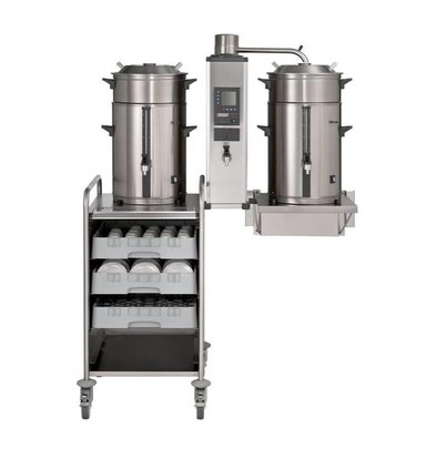 Bravilor Bonamat Cafetière |Filtre rond B20 HW W | 2x 20 litres 3 parties