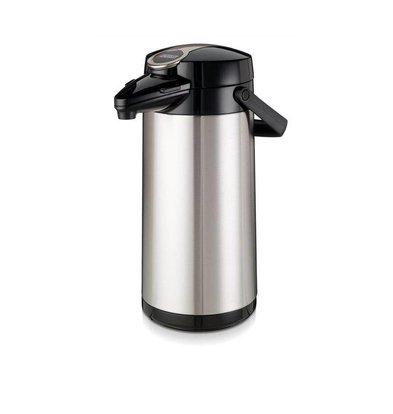 Bravilor Bonamat Bravlilor Airpot Furento | Pot Intérieur en Verre | Boîtier en Inox | 2,2 Litres | Ø164x378(h)mm