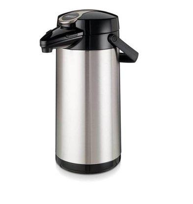 Bravilor Bonamat Pot à Pompe Isotherme | Pot intérieur en verre et boîtier en acier inoxydable 2,2 litres Ø164x (H) 378mm