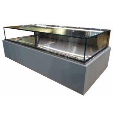 ColdFlow Vitrine à Pâtisserie Drop In | avec Tiroirs et Eclairage LED | 1125x700x(h)830mm
