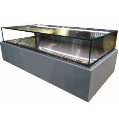 ColdFlow Vitrine à Pâtisserie Drop In | avec Tiroirs et Eclairage LED | 1455x700x(h)830mm