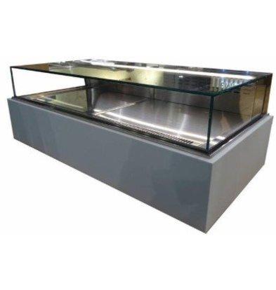 ColdFlow Vitrine à Pâtisserie Drop In | avec Tiroirs et Eclairage LED | 800x700x(h)830mm