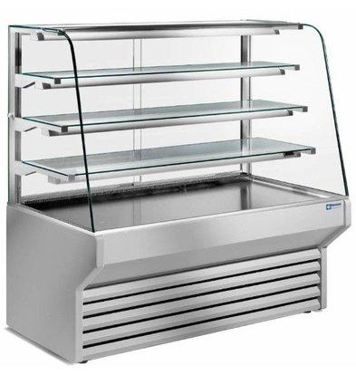 Diamond Comptoir Vitrine Réfrigéré | 4 Niveaux | 790x(h)1330mm | Disponible en 3 Largeurs