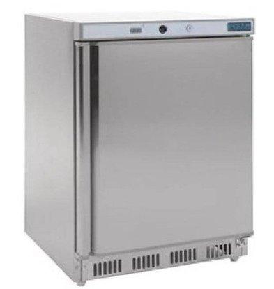 Polar Congélateur Inox | Dessous Comptoir | 140 Litres | 600x600x850(h)mm