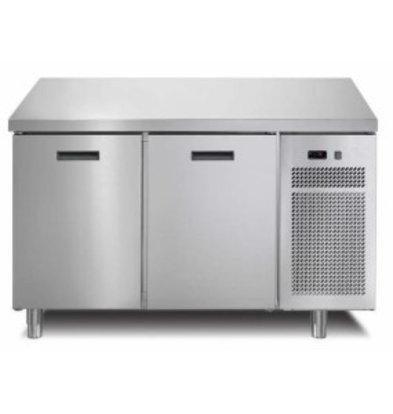 Afinox Comptoir Réfrigéré | 2 Portes | Avec ou Sans Plan de Travail | 1260x700x(h)900mm
