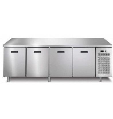 Afinox Comptoir Congelé |4 Portes | 2182x700x(h)900mm | avec ou sans Plan de Travail