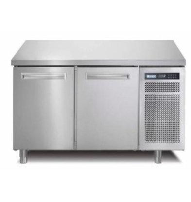 Afinox Comptoir Congelé | INOX | 2 Portes | SPRING 702 I/A BT | 130x70x(H)90cm | avec/sans Plan de Travail