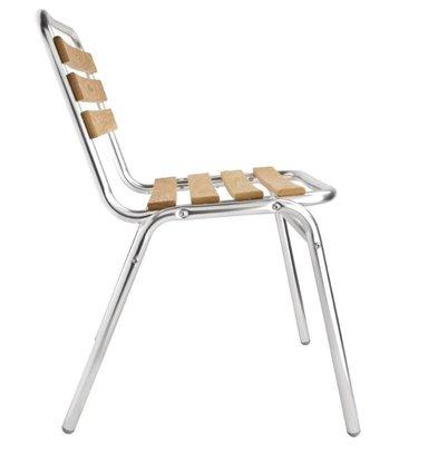 CHRselect Chaises Aluminium & Frêne | Empilable | Lot de 12