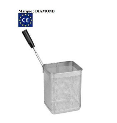 Diamond Panier Cuiseur à Pâtes | Poignée Latérale Gauche | 165x145x215(h)mm