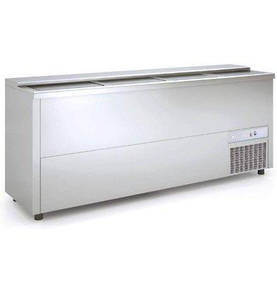 Coreco Bar Comptoir Réfrigéré | Aluminium | 720 Litres | 2480x550x(h)850mm