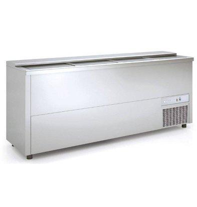 Coreco Bar Comptoir Réfrigéré | Aluminium | 580 Litres | 1990x550x(h)850mm