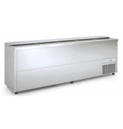 Coreco Bar Comptoir Réfrigéré Inox | 720 Litres | 2480x550x(h)850mm