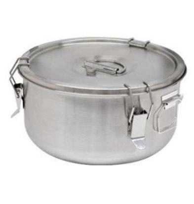 CHRselect Conteneur á Soupe Inox | 5 Litres | Poignées Latérales | Ø300x170mm