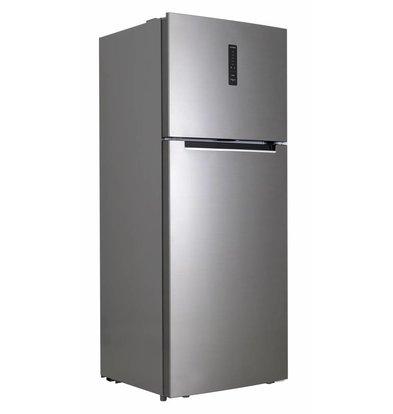 Frilec Réfrigérateur/Congélateur Inox-Look A+ | 330L + 95L | 700x670x1770(h)mm