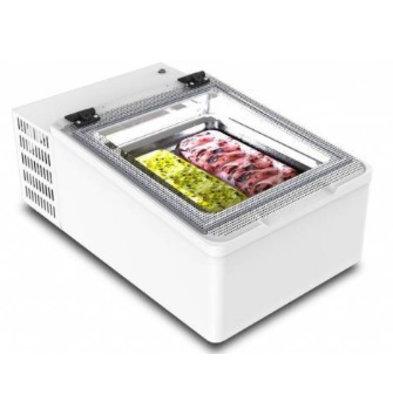 Framec Vitrine à Crèmes Glacées | Modèle de Table | 2x 5 Litres | 490x790x(h)345mm