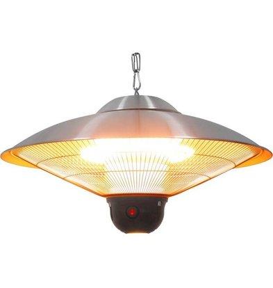 Stalgast Lampe Chauffante Suspendue | Télécommande | Eclairage LED | 3.2Kg | Ø360x270mm