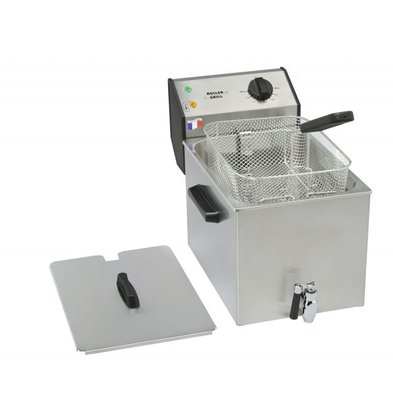 Roller Grill Friteuse avec Robinet | 8 Litres | 265x450x360(h)mm