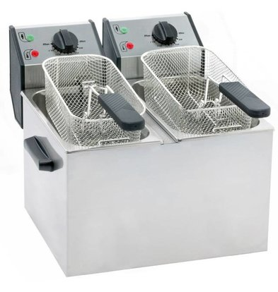 Roller Grill Friteuse Electrique | 2x5 Litres | 2x3,2kW | 425x390x320(h)mm