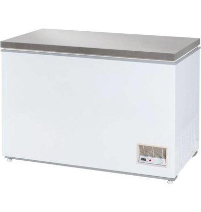 Stalgast Congélateur Coffre | Couvercle INOX | 312 litres | 1220x680x875(h)mm
