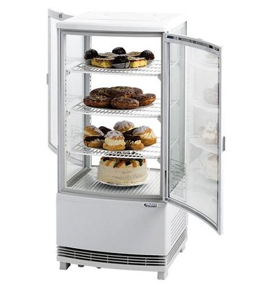 Stalgast Réfrigérateur Blanc | Ouverture des 2 Cotés | 86 Litres | 429x425x980(h)mm
