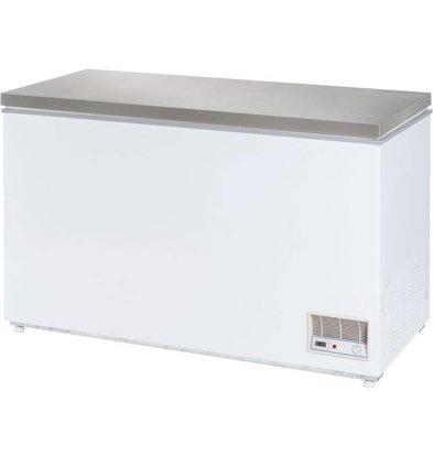 Stalgast Congélateur Coffre | Couvercle INOX | 390 Litres | 1330x685x875(h)mm