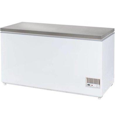 Stalgast Congélateur Coffre | Couvercle INOX | 466 Litres | 1485X685X865(h)mm