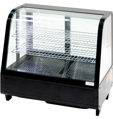 Stalgast Vitrine Réfrigérée | de Comptoir | 100 Litres |Noir | Eclairage à LED| 682x450x675mm(h)
