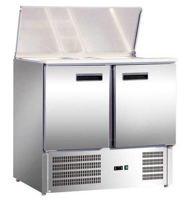 Stalgast Comptoir Réfrigéré | 240 L | 2 Portes | 900x700x(h)885mm