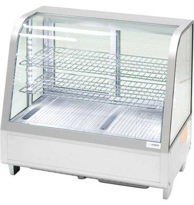 Stalgast Vitrine Réfrigéré | Comptoir | 100L | Argent | LED | 682x450x(h)675mm
