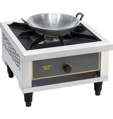 Roller Grill Cuisinière à Gaz | 1 Brûleur | 14 kW | 600x630x(h)425mm