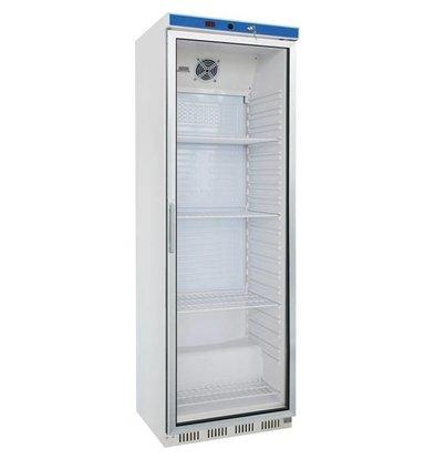 Stalgast Réfrigérateur Porte Vitrée   350 L   Blanc   Intérieur ABS   Facile à Nettoyer   600x600x(h)1850mm