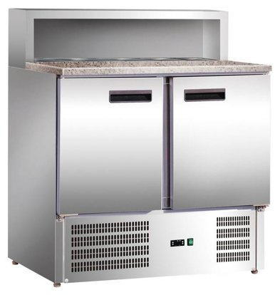 Stalgast Comptoir Réfrigéré Pizza | 2 Portes | 0,23kW | 240L | 900x700x(h)1090mm