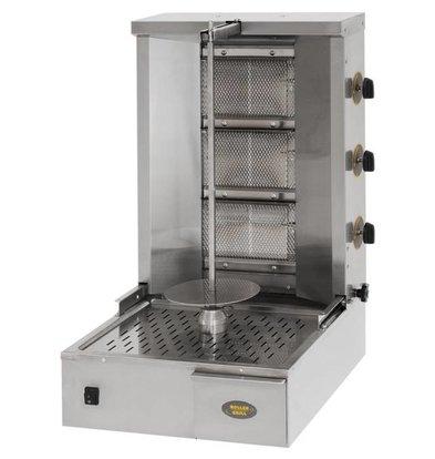 Roller Grill Grill pour Gyros / Kebab à Gaz | 7 kW | 580x660x(h)645mm