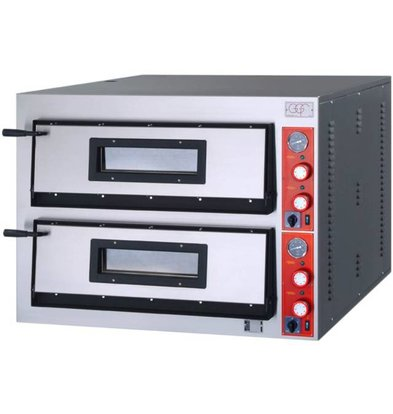 Stalgast Four à Pizza | F-Line | 2 x4 Pizzas 36cm | Ext. 1010x850x(h)750mm | Int. 720x720x(h)140mm