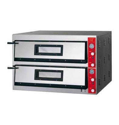 Stalgast Four à Pizza | E-Line | 2x 9 Pizzas 30cm | 1150x1020x(h)750mm | 19,2 KW