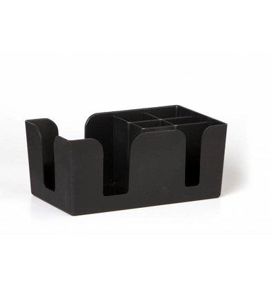 Bar Professional Bac à Compartiments de Bar   Noir   145x240x(h)105mm